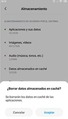 Archivos temporales de Android